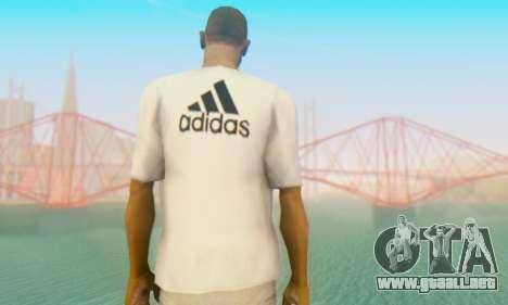 Adidas Shirt White para GTA San Andreas segunda pantalla