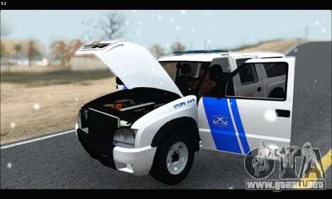 Chevrolet S-10 P.N.A para GTA San Andreas vista hacia atrás