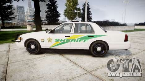 Ford Crown Victoria Martin County Sheriff [ELS] para GTA 4 left