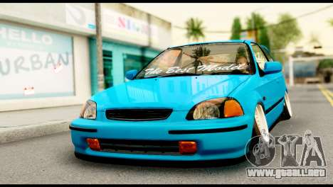 Honda Civic Hatcback O. B. Construcción para GTA San Andreas