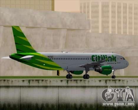 Airbus A320-200 Citilink para GTA San Andreas vista hacia atrás