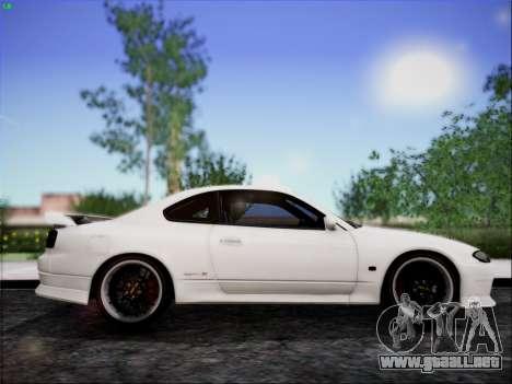 Nissan Silvia S15 Roux para GTA San Andreas vista posterior izquierda