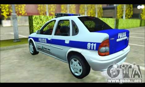 Chevrolet Corsa Policia Bonaerense para GTA San Andreas vista posterior izquierda