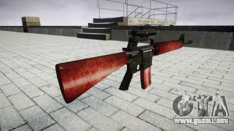 El rifle M16A2 [óptica] rojo para GTA 4 segundos de pantalla