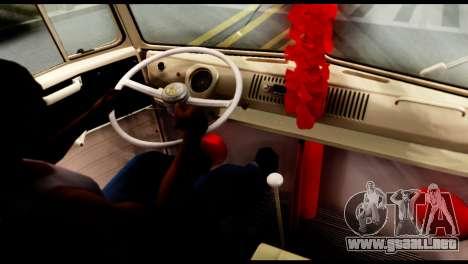 Volkswagen T1 para GTA San Andreas vista posterior izquierda