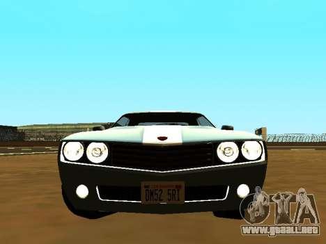 GTA 5 Bravado Gauntlet para GTA San Andreas vista hacia atrás