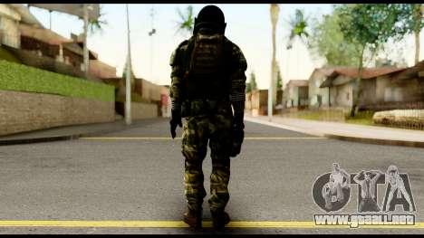 Support Troop from Battlefield 4 v2 para GTA San Andreas segunda pantalla