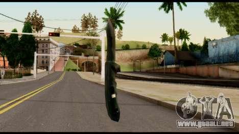 Solidsnake CQC Knife from Metal Gear Solid para GTA San Andreas segunda pantalla
