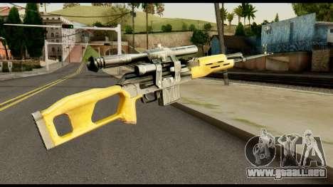 SVD from Max Payne para GTA San Andreas segunda pantalla