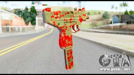 Micro SMG with Blood para GTA San Andreas segunda pantalla