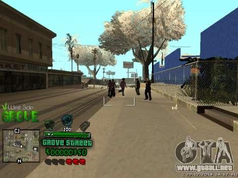 C-HUD Grove Street para GTA San Andreas quinta pantalla