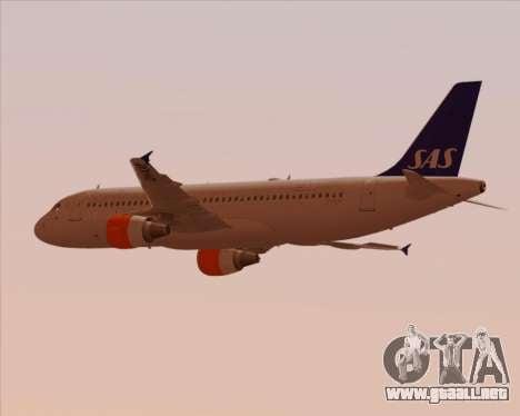 Airbus A320-200 Scandinavian Airlines - SAS para visión interna GTA San Andreas