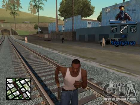 C-HUD Unique Ghetto para GTA San Andreas segunda pantalla