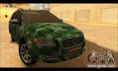 Volvo V70 Camo para GTA San Andreas vista posterior izquierda