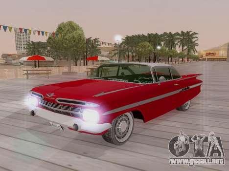 Chevrolet Impala 1959 para vista inferior GTA San Andreas