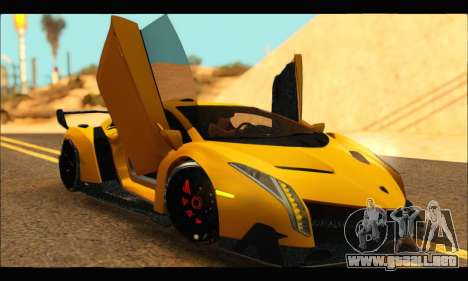 Lamborghini Veneno 2013 HQ para la visión correcta GTA San Andreas