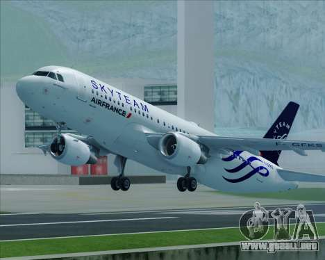 Airbus A320-200 Air France Skyteam Livery para GTA San Andreas