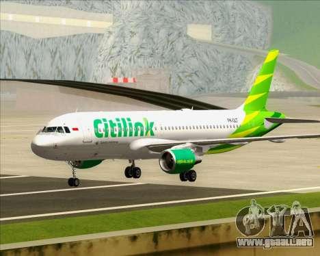 Airbus A320-200 Citilink para GTA San Andreas left