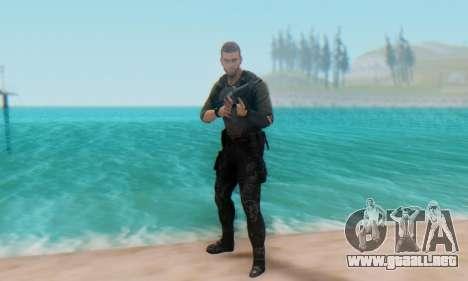 Sam Fisher - Paladin Outfit (Splinter Cell Black para GTA San Andreas quinta pantalla
