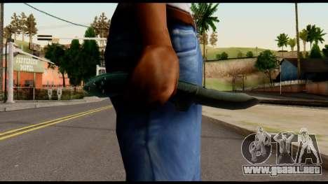 Solidsnake CQC Knife from Metal Gear Solid para GTA San Andreas tercera pantalla