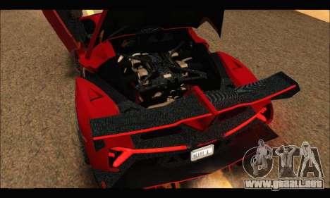 Lamborghini Veneno 2013 HQ para visión interna GTA San Andreas