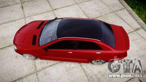 GTA V Benefactor Schafter body wide rims para GTA 4 visión correcta