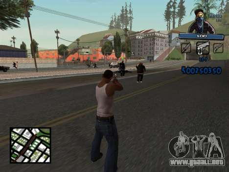 C-HUD Unique Ghetto para GTA San Andreas