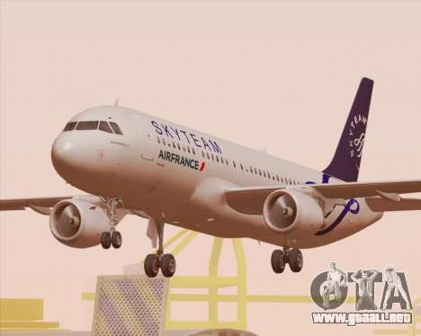 Airbus A320-200 Air France Skyteam Livery para las ruedas de GTA San Andreas