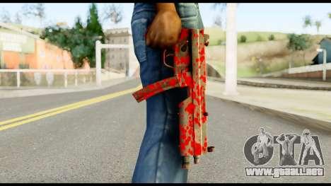 MP5 with Blood para GTA San Andreas tercera pantalla