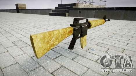 El M16A2 rifle de oro para GTA 4 segundos de pantalla