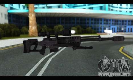 Raab KM50 Sniper Rifle From F.E.A.R. 2 para GTA San Andreas sexta pantalla