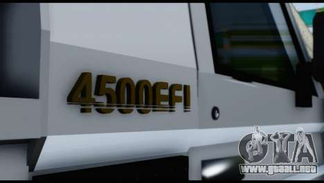 Toyota Land Cruiser Macho Pick-Up 2007 4.500 para GTA San Andreas vista hacia atrás