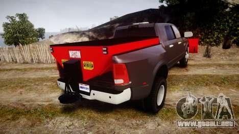 Dodge Ram 3500 Plow Truck [ELS] para GTA 4 Vista posterior izquierda