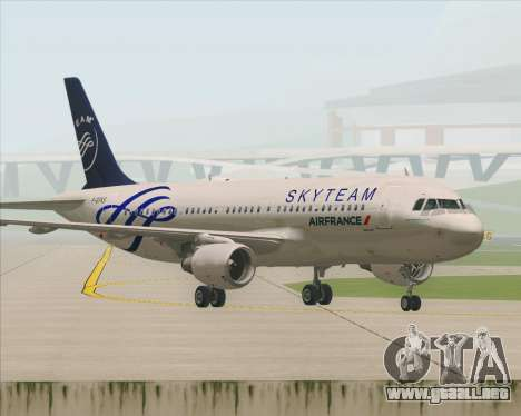 Airbus A320-200 Air France Skyteam Livery para vista inferior GTA San Andreas