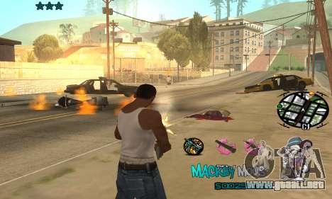 C-HUD Mickey Mouse para GTA San Andreas tercera pantalla