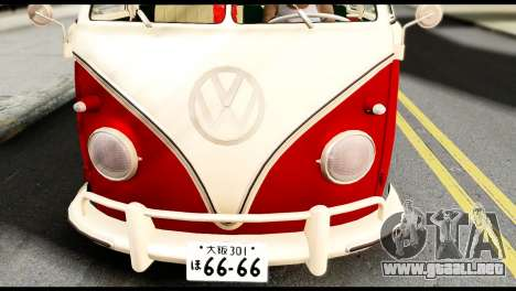 Volkswagen T1 para la visión correcta GTA San Andreas