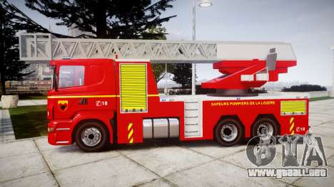 Scania R580 Paris Fireladder [ELS] para GTA 4 left
