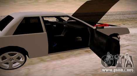 Manana BOOM para GTA San Andreas vista posterior izquierda