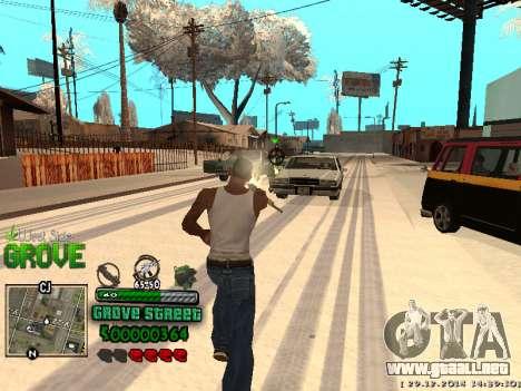 C-HUD Grove Street para GTA San Andreas octavo de pantalla