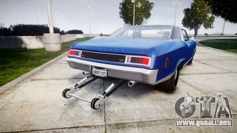 GTA V Albany Buccaneer Little Wheel para GTA 4 Vista posterior izquierda