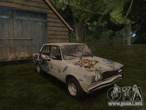 VAZ 2105 Rusty comedero para GTA San Andreas vista hacia atrás