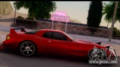 New ZR-350 (ZR-380) v1.0 para GTA San Andreas vista posterior izquierda