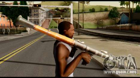 RPG7 from Metal Gear Solid para GTA San Andreas tercera pantalla
