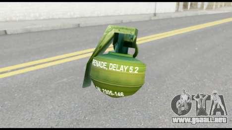 MGS1-2 Grenade from Metal Gear Solid para GTA San Andreas tercera pantalla