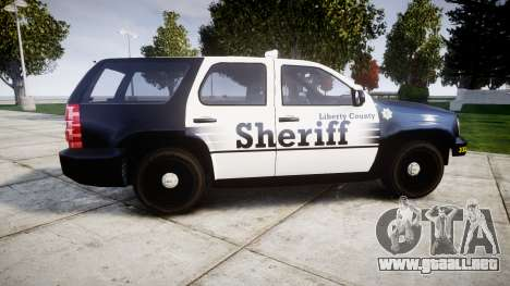 Chevrolet Tahoe 2013 County Sheriff [ELS] para GTA 4 left
