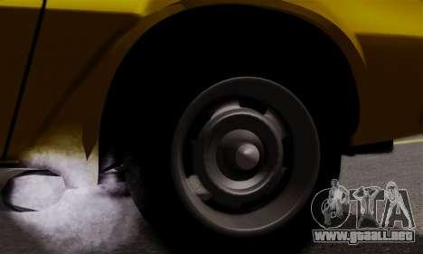 Chevrolet Camaro Mk.II para visión interna GTA San Andreas