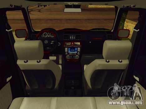 Mercedes-Benz G500 para GTA San Andreas vista hacia atrás