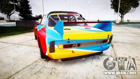 BMW 3.0 CSL Group4 1973 Art para GTA 4 Vista posterior izquierda