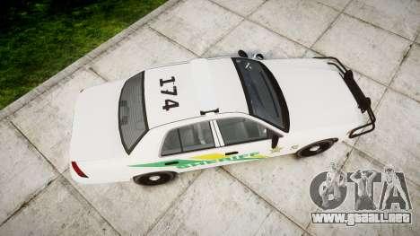 Ford Crown Victoria Martin County Sheriff [ELS] para GTA 4 visión correcta