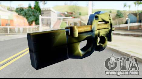 P90 from Metal Gear Solid para GTA San Andreas segunda pantalla